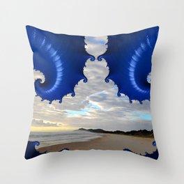 Sunrise on a Byron Bay Beach Throw Pillow