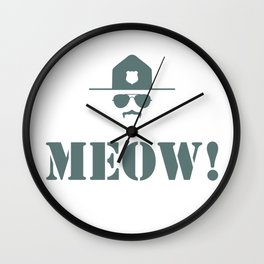 original meow! Wall Clock