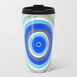 Turquoise Evil Eye Mandala Travel Mug