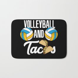 Volleyball And Tacos Fast Food Sports Gift Bath Mat