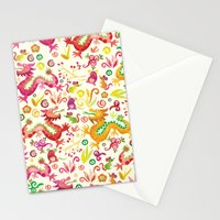 Scared dragons Stationery Cards