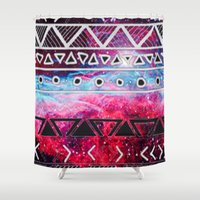 aztec Shower Curtains featuring AZTEC by UDIN