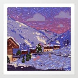 WinterHome Art Print