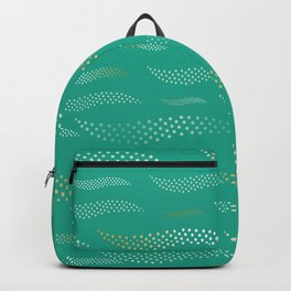 Waves / Tiger (stylized pattern) 16 Backpack
