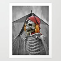 scary Art Prints featuring scary by mayrarosito