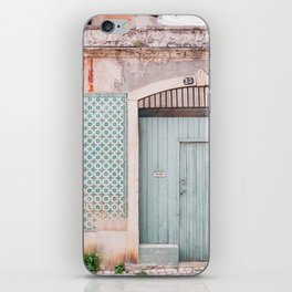 The mint door iPhone Skin