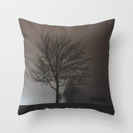 Behind the Tree Throw Pillow