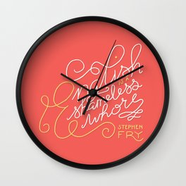 English is a Shameless Whore, Stephen Fry Wall Clock