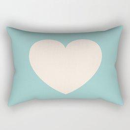 One Teal Heart Rectangular Pillow