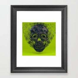 Skull Explotion Framed Art Print
