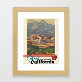 Vintage poster - California Framed Art Print