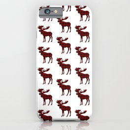 Buffalo Check Moose iPhone Case