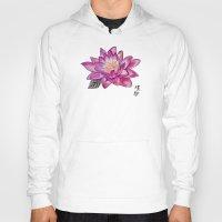 lotus flower Hoodies featuring Lotus by Art by Risa Oram
