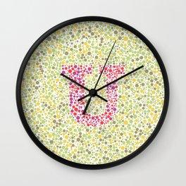 """U"" Eye Test Full Wall Clock"