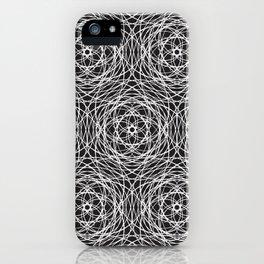Geometric cobweb iPhone Case