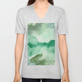 Meadow Pool Abstract Unisex V-Neck
