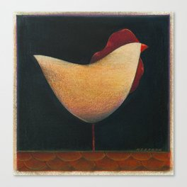 Folk Rooster Canvas Print