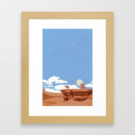 OUT WEST Framed Art Print
