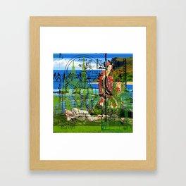 ON THE SHORE Framed Art Print