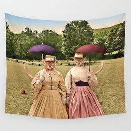 Two Pretty Kitties: Out for a Stroll Wall Tapestry