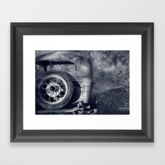 The Old Car Framed Art Print