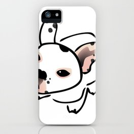 French Bulldog Pup Drawing iPhone Case