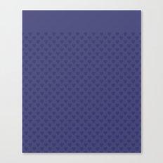Dark blue monochrome pattern with hearts . Canvas Print