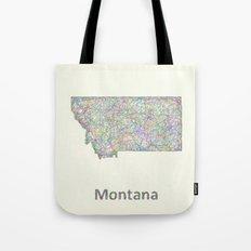 Montana map Tote Bag