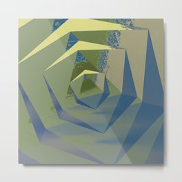 Multifaceted - Serpentine and Lapis Lazuli Metal Print