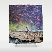 spawn Shower Curtains featuring Spawn by John Turck