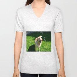 Happy Dog Unisex V-Neck