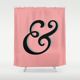 Ampersand 3D Anaglyph Shower Curtain