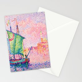 Paul Signac Twilight in Venice Stationery Cards
