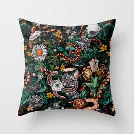 Dangers in the Forest V Throw Pillow