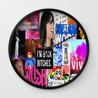 birthday Wall Clocks featuring birthday by Aldo Couture