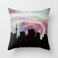 toronto Throw Pillows featuring Toronto by bMAR10