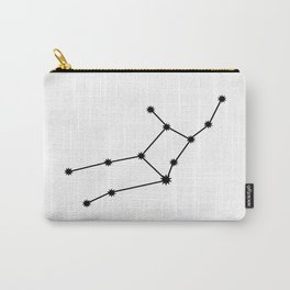 Virgo Star Sign Black & White Carry-All Pouch