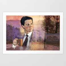 Twin Peaks , Agent Cooper Art Print