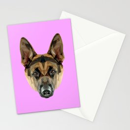 German Shepherd // Lilac Stationery Cards