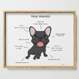 True Friends - Blue Frenchie Serving Tray