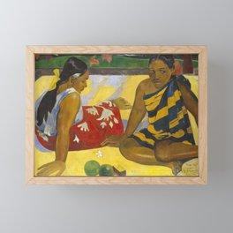 Parau Api / What's news? by Paul Gauguin Framed Mini Art Print