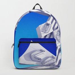 Liquor Deli Vintage Retro Neon Sign Blue Backpack