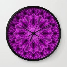 Royal Flower Mandala Wall Clock