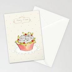 x-mas cupcake_01 Stationery Cards