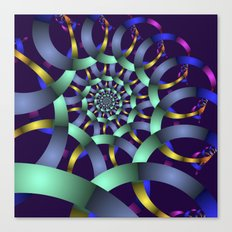 The turquoise spiral Canvas Print