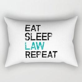 Eat Sleep Law Repeat Lawyer Judge Jurist Rectangular Pillow