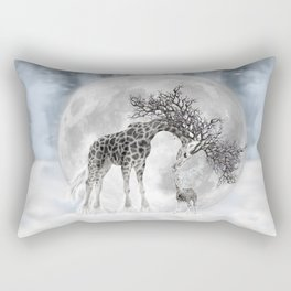 Giraffe Moon Dreaming Rectangular Pillow