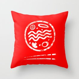 Ramen Logo Throw Pillow