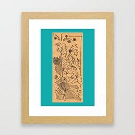 Sketch Model Framed Art Print