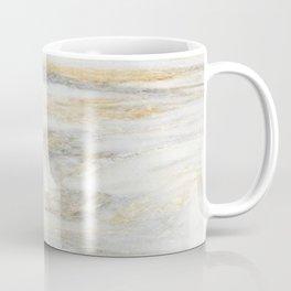 White Gold Marble Texture Coffee Mug